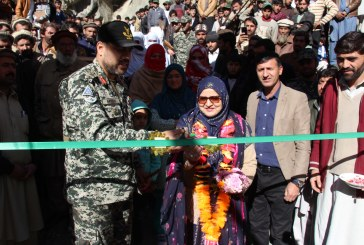 SRSP completed suspension bridge  at Domeil area of ​​the Pak-Afghan border and a hostel for women in Govt High school for girls Arandu. Commandant Chitral Scouts Brigadier Moinuddin and Mrs Moinuddin inaugurated the two projects.
